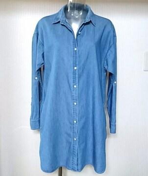 ユニクロ★ダンガリー ロング シャツ