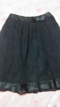 超激カワ裾フリルりぼん付ブラックフォーマルスカート(///ω///)♪