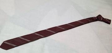 正規レア ドルチェ&ガッバーナ レジメンタルナロータイ ストライプ シルク細ネクタイ 赤系 4cm