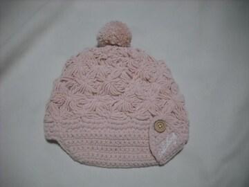23 女 BILLABONG ビラボン ボンボン付き キャスケット ニット帽