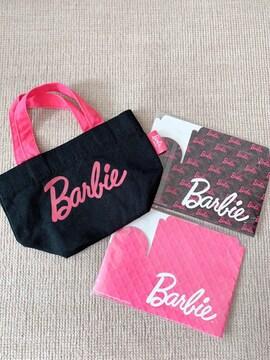 バービー/Barbie 黒×ピンク ミニバッグ&紙製BOX 3点セット