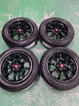 7071564)美品レアマイスタ-LMスポ-ツ7J+45新品タイヤセット205/55R16送料無料