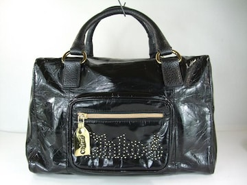 美品クロエ スクエア型ハンドバッグ 黒系