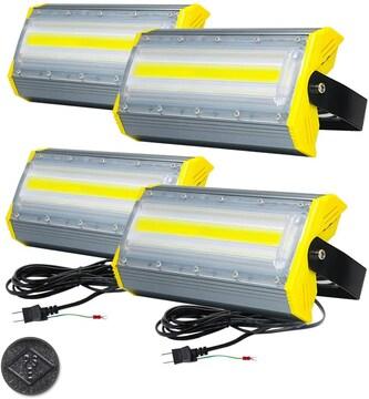 LED投光器,LED作業灯,50W 850W相当 4個組