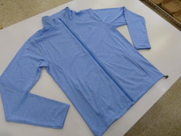 き(M 水色)オーシャンパシフィック★フルジップ長袖ジャケット 517482 薄手