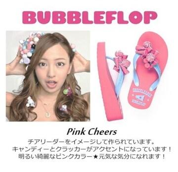 セレブやAKB48 板野友美サンダル新品ピンクUS7